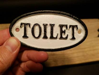 Cast Iron Bathroom Retro Men & Ladies Toilet Sign