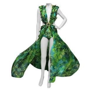 S/S 2020 Versace Embellished Jungle print Finalee Dress