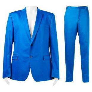 VERSACE COLLECTION BLUE SUIT (as seen on JUSTIN) 56 -
