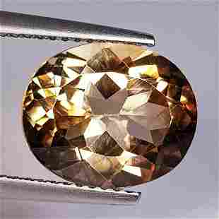 6.09 ct Natural Champagne Topaz Oval Cut