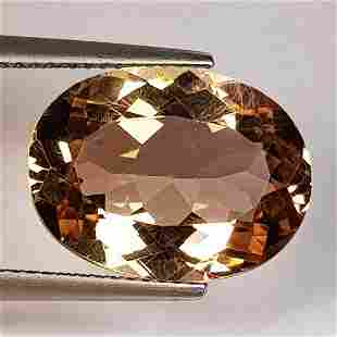 10.08 ct Natural Champagne Topaz Oval Cut