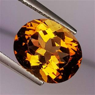 6.32 ct Natural Champagne Topaz Oval Cut