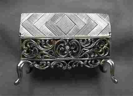 Miniature sterling silver desk german hallmark figurine