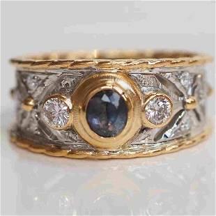 18K gold alexandrite ring