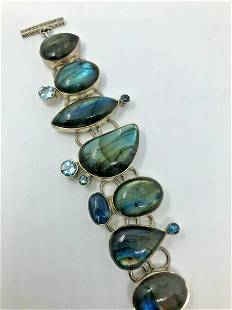 A Labradorite and Kynite semi precious stone and