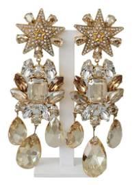 Dolce & Gabbana Gold Brass Clear Crystal Brass Star