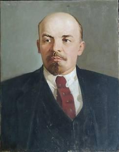 Russian school - Portrait of V. Lenin