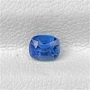Natural Blue Sapphire Sri Lanka 0.51 Cts Cushion Cut