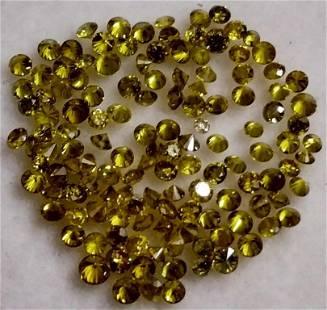 1.59 Ct Round Cut Yellow Natural Diamonds