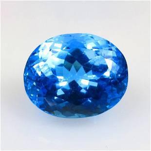 18.19 Ct Natural Blue Topaz Oval Cut