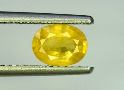 Sapphire, 1.60 Carats Very Amazing Natural Yellow