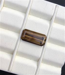 8.35 carats champange color natural tourmaline gemstone