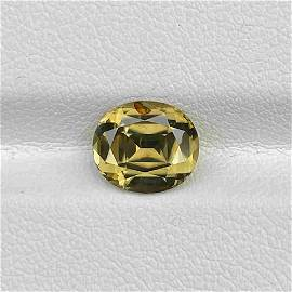Natural Untreated Yellow Zircon 3.27 Cts Oval Cut Sri