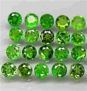 Lot of 20 Natural Green Chrome Diopside Russi Unheatred