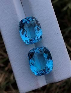 AAA Quality Swiss Blue Topaz - 40.40 Carats - 18X15X10