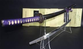 A Very exclusive Japanese 1 body test cutting Wakizashi