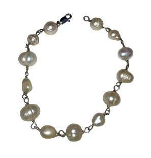 Sterling Silver Hand Made Artisan Cultured Pearl