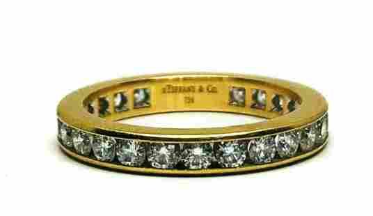 TIFFANY & CO 18K Yellow Gold Diamond Eternity Wedding