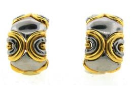 CLASSIC VR 18k White & Yellow Gold Earrings Made in