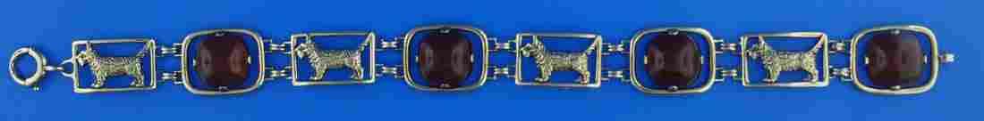 CARTIER AUTHENTIC 14K YELLOW GOLD CARNELIAN BRACELET