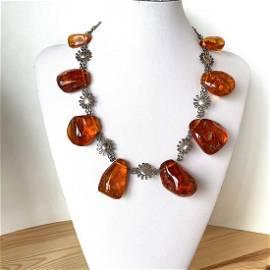 Outstanding Unique Vintage Amber Necklace