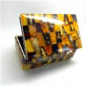 Antique Amber Jewellery box