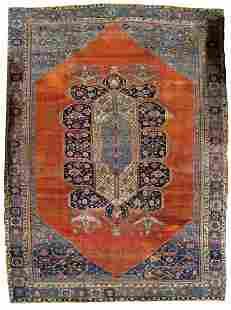 Handmade antique Persian Bakshaish rug 11' x 15.7'