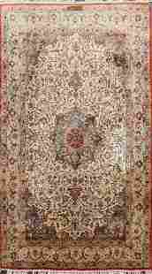 Antique 100% Vegetable Dye Isfahan Persian Area Rug 4x6