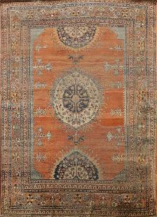 Pre-1900 Antique Silk Tabriz Haj Jalili Persian Area