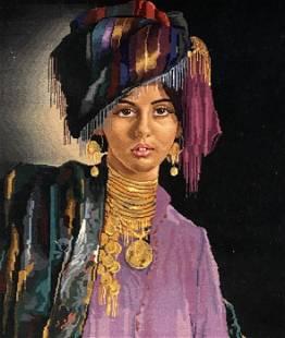 Tabriz Figurative Rug, Hand knotted Rug, Silk & Wool,