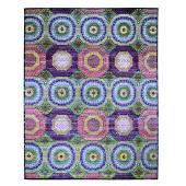 Oversized Sari Silk With Textured Wool Mamluk Design