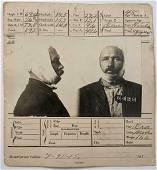 1915 San Francisco CRIME PHOTO INDEX CARD MUG SHOT,