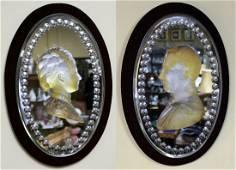 Pair of Mid 19th c. Victoria & Albert Carved Crystal