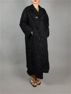 BLACK KARABUL FUR COAT