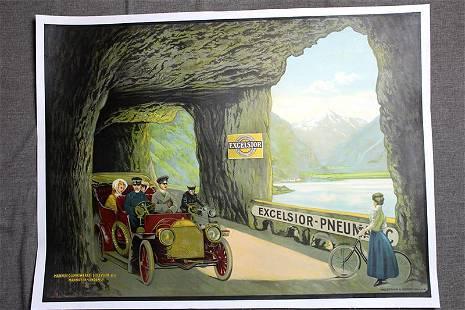 Excelsior Pneumatics - Art by Theobald Schorn (1910)