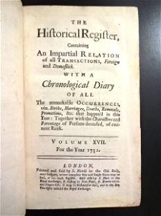 1732 Historical Register and Chronological Diary