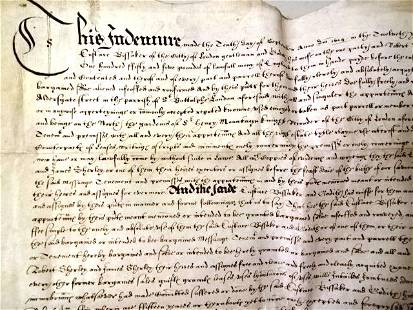 1614 FINE English Vellum Deed London