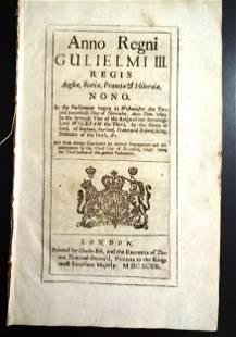 1697 English Act Oaths Taken Bank of England
