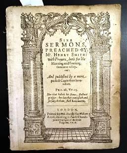 1618 Sixe Sermons with Prayers Henry Smith Puritan