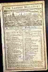 1762 London Magazine Martinico Plan