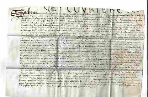 1546 Vellum Manuscript Saint Amand