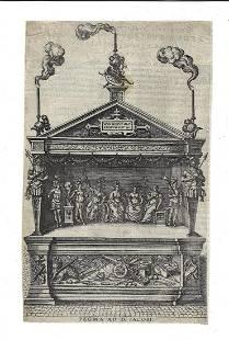 17th C Engraving Publicae Gratulationis