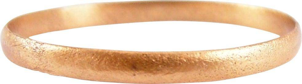 RARE VARIATION VIKING WEDDING RING, 11TH CENTURY, SZ 14