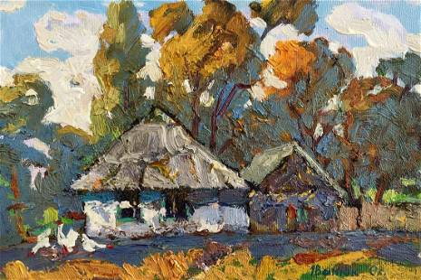 Oil painting Winter landscape Kalenyuk Alex