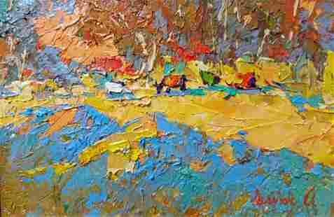 Oil painting Autumn landscape Kalenyuk Alex
