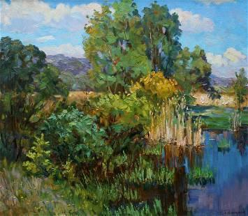 Oil painting Summer S. Dirtorak