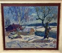 Oil painting Blue day Petrashevsky Stanislav