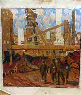 Oil painting Building complex Kostenko Anatoly