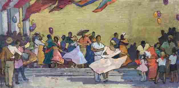Oil painting Ball Konstantin Ivanovich Pokulity
