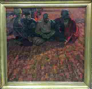 Oil painting On the ground Brusentsov Gennady